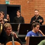 Orkesterøvelse i Lindemansalen