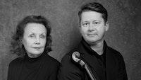 Kaija Saariaho og Peter Herresthal med fiolin