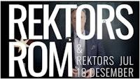 """Peter Tornquist med dressjakke og lys skjorte skimtes bak overskriften """"Rektors rom & rektors jul 18 desember"""""""