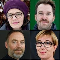 Sammenstilling av portrettene til det nye rektoratet Astrid Kvalbein, Eyolf Dale, Gunnar Flagstad og Sidsel Karlsen.
