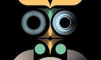 Logoen til Oslo kulturnatt 2021: en stilisert ugle i ulike farger.