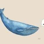Serendip-logoen med blåhval
