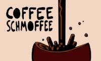 Toppen av logoen til Coffee Schmoffee