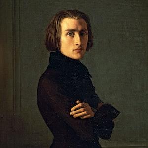 Maleri av den unge Liszt