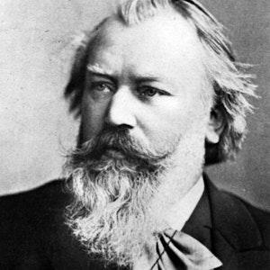 Foto av en skjeggete Brahms
