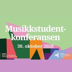 "Logoen til Musikkstudentkonferansen med teksten ""30. oktober 2020""."