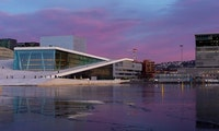 Picture of Oslo harbour, Opera house and sea