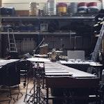 Marimbaer på slagverksrommet