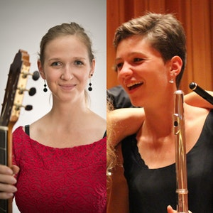 Kollasj med Verena Merstallinger og Johanna Kiening