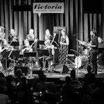Konsert med David Hveem og band fra Nasjonal jazzscene, Victoria, i svart-hvitt
